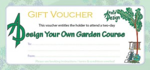 "Image of a ""Design Your Own Garden"" gift voucher"